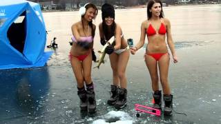 Bikini Ice Fishing Team