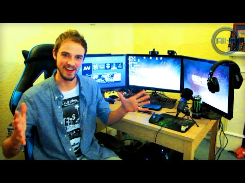 setup - Ali-A Gaming Setup - THANK YOU for 5000000 subs! :) ▻ Retweet this to WIN! - http://bit.ly/1w5r17i ○ Ali-A using Oculus Rift... http://youtu.be/SmbsXst8Rto...