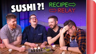 SUSHI Recipe Relay Challenge!!   Pass It On S2 E11 by SORTEDfood
