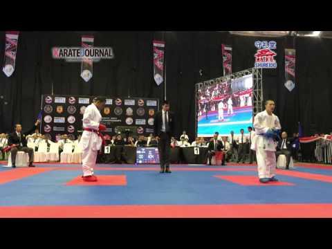 AKF2016 Junior Kumite Male -68 kg KOZAKI YUGO (JPN) vs FAQIH KAROMI (INA)