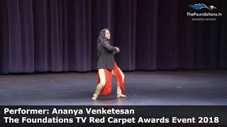 Ananya Venketesan performing at The Foundations TV Red Carpet Event