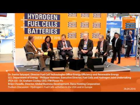 Hydrogen + Fuel Cells activities in the USA and in Europe