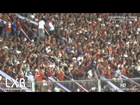 Independiente 2 - Rafaela 0 / Avalancha en la Norte Baja - La Barra del Rojo - Independiente