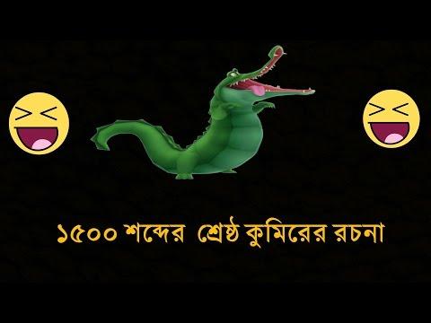 বিখ্যাত কুমিরের রচনা  !!!!!!! 1500 Word Crocodile essay !!!! Back Bencher New funny video