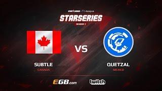 subtLe vs QuetzaL, map 2 train, SL i-League StarSeries Season 3 NA Qualifier