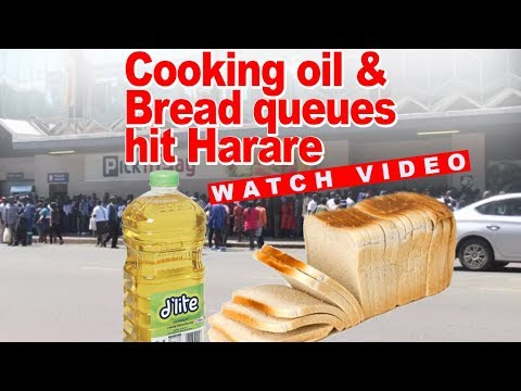 Watch Cooking Oil And Bread Queues Hit Harare, Some Even Fighting For It (Reaction Video)