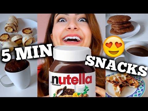 Einfache 5 MIN NUTELLA Snack Ideen