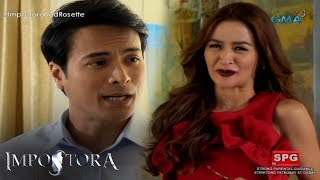 Aired (July 25, 2017): Sa pamamaalam ni Nimfa, ay magbabalik naman ang walang pusong tao na si Rosette.Watch 'Impostora,' weekdays on GMA Afternoon Prime, starring Kris Bernal as Nimfa/Rosette, Rafael Rosell as Homer Alcantara, and Ryan Eigenmann as Dr. Jeremy Soriano. Also included in the cast are Assunta de Rossi, Yuan Francisco, Dayara Shane, Rita Daniela, Aicelle Santos, Sinon Loresca, Vaness del Moral, James Blanco, Elizabeth Oropesa, and Leandro Baldemor.--------------Subscribe to the GMA Network channel! - http://goo.gl/oYE4DnVisit the GMA Network Portal! http://www.gmanetwork.comConnect with us on:Facebook: http://www.facebook.com/GMANetworkTwitter: https://twitter.com/GMANetworkInstagram: http://instagram.com/GMANetwork