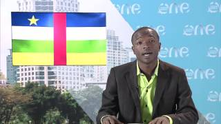 One Young World delegate Cédric Pacific ZOUADE OUANGOLO from the Central African Republic speaks on the impact of...