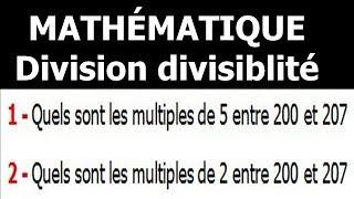 Maths 6ème - Division et divisibilité Exercice 6