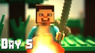 LEGO Minecraft Survival Day 5 (Stop Motion Animation)
