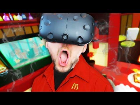 VIRTUAL REALITY MCDONALDS   Job Simulator #1 (HTC Vive Virtual Reality)