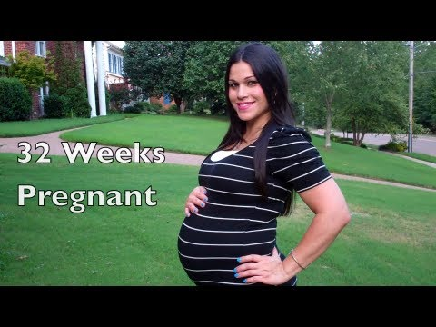 32 Weeks Pregnant Belly- Day In My Life Vlog