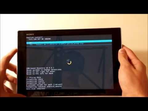 Instalar cyangenmod en Sony Xperia Tablet Z y desbloquear bootloader