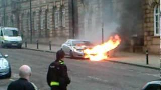 Wakefield United Kingdom  city photo : Car fire Wakefield, UK 22.02.2010
