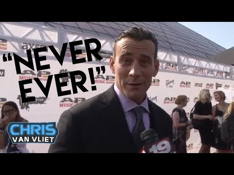 I'm - www.twitter.com/ChrisVanVliet CM Punk chats with Chris Van Vliet from CBS-19 on the red carpet at the AP Music Awards at the Rock and Roll Hall of Fame in Cleveland and is asked about his...