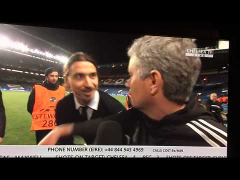 Ibrahimovic wishes Mourinho good luck in the Champions Le