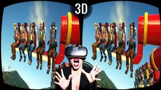 🔴 VR VIDEOS 3D Roller Coaster VR Theme Park with TOP 10 ATTRACTIONS VR Split Screen