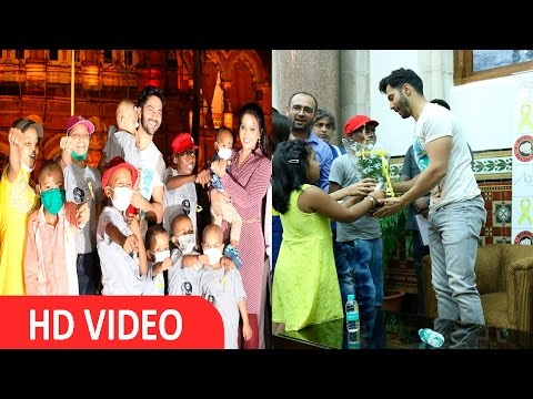 UNCUT I Varun Dhawan I Joins I Dishoom I To Cancer Campaign With Childhood Cancer Patients