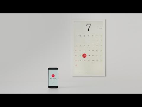 Concept e-paper smart calendar