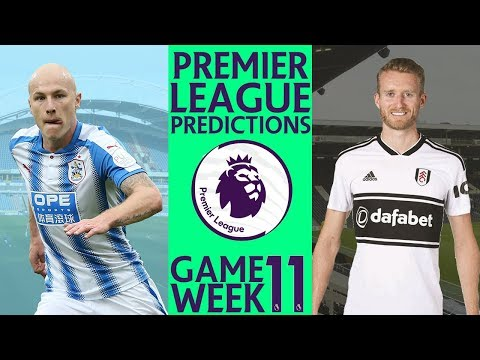 EPL Premier League Week 11 Score And Result Predictions 2018/19