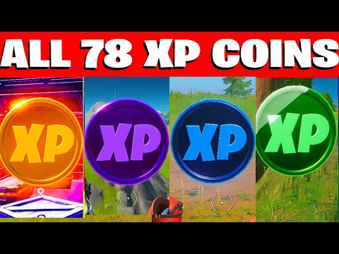 All 78 XP COINS LOCATIONS IN FORTNITE SEASON 4 Chapter 2 (WEEK 1-8)