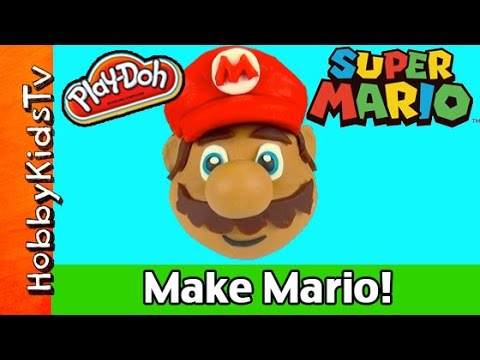 Mario - HobbyKidsTV presents Play-Doh Make Super Mario. Watch as HobbyDad makes a Play-Doh Suber Mario Surprise Egg. Mario is made in fast motion so it is fun to see him come to life. Make sure...