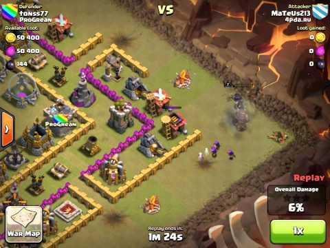 Clash of Clans - Clan Wars - 4pda.ru vs. ProGrean - MaTeUs213 vs. tonss77