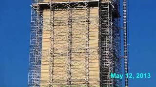 Washington Monument Scaffolding - May 2013