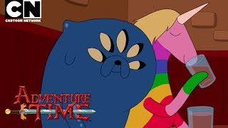 Jake the dog is still feeling himself despite his new look - but it's taking some of the others a bit of getting used to... CN GAMES: http://bit.ly/CNGamesSUBSCRIBE: http://bit.ly/109Y6wqWATCH MORE: http://bit.ly/CNAdventureTimeAbout Adventure Time:Unlikely heroes Finn (a silly kid with an awesome hat) & Jake (a brassy dog with a big kind heart), are the best of friends and always find themselves in the middle of heart pounding escapades as they traverse the mystical Land of Ooo.Adventure Time Games: http://bit.ly/QrgpssAdventure Time on Facebook: http://on.fb.me/YApNfoAbout Cartoon Network:Welcome to the Cartoon Network YouTube Channel, the destination for all of your favorite cartoons and videos. Watch clips from shows like Teen Titans Go!, Steven Universe, Clarence, Adventure Time, Uncle Grandpa, The Amazing World of Gumball and more!Connect with Cartoon Network Online:Visit Cartoon Network WEBSITE: http://bit.ly/90omi9Like Cartoon Network on FACEBOOK: http://on.fb.me/SULxhQFollow Cartoon Network on TWITTER: http://bit.ly/XqeBXfFollow Cartoon network on TUMBLR: http://bit.ly/1B3nUQFAdventure Time  Minecraft Scavenger Hunt: Nightosphere!  Cartoon Networkhttps://youtu.be/TTt4hEHQpek