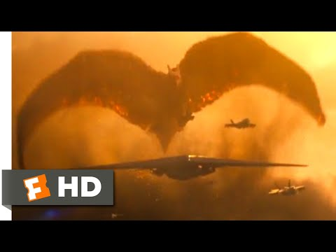 Godzilla: King of the Monsters (2019) - Rodan Chase Scene (4/10)   Movieclips