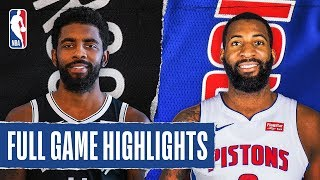 NETS at PISTONS | FULL GAME HIGHLIGHTS | January 25, 2020 by NBA