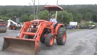 5. 2008 Kubota L4740 HST Tractor Loader LA854 Loader 4x4 Diesel Compact For Sale Mark Supply