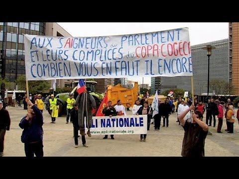 Βρυξέλλες: Διαμαρτυρία ευρωπαίων παραγωγών για τις τιμές γάλακτος