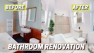 BATHROOM RENOVATION! Before & After 🛁