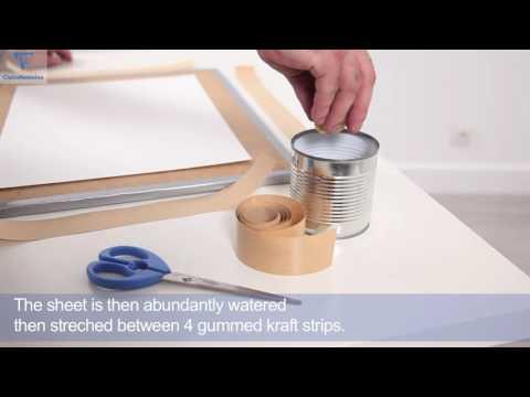 Aquarellpapier: Vorbereitung des Papiers