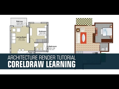Tutorial Render 2d Plan In Coreldraw X7