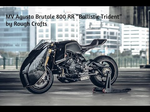 "MV Agusta Brutale 800 RR ""Ballistic Trident"" pela mão da Rough Crafts"