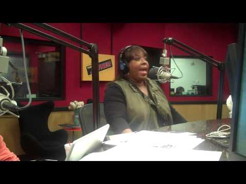 Comedian Loni Love interviews on the Tom Joyner Morning Show