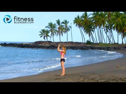Kona Beach Bikini Body Workout – No Equipment Body Sculpting Workout – Sand, Surf & Sweat