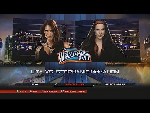 Lutas De Divas: Lita VS Stephanie McMahon – WWE 2K14