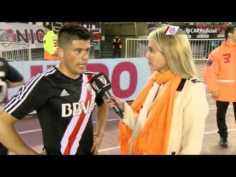 Jorge Moreira, tras el 3-0 a Vélez en el Monumental
