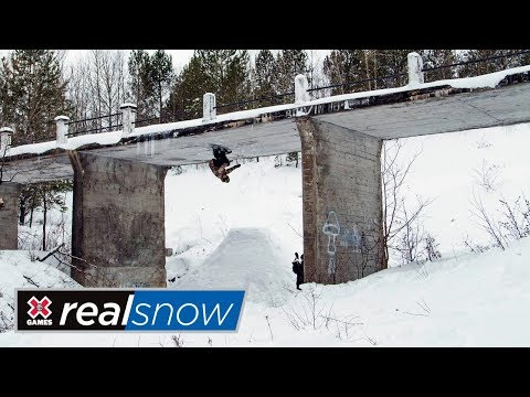 One of the craziest and most creative snowboard video: Frank Bourgeois Real Snow 2018 submission