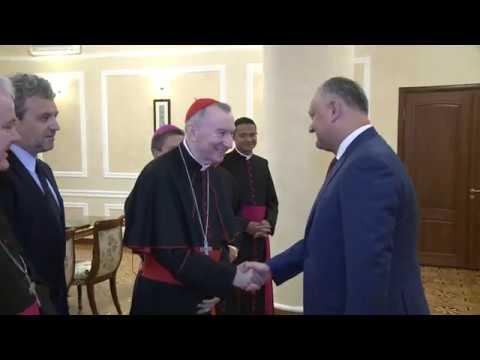 Șeful statului a avut o întrevedere cu o delegație din Vatican condusă de Eminența Sa, Cardinalul Pietro Parolin