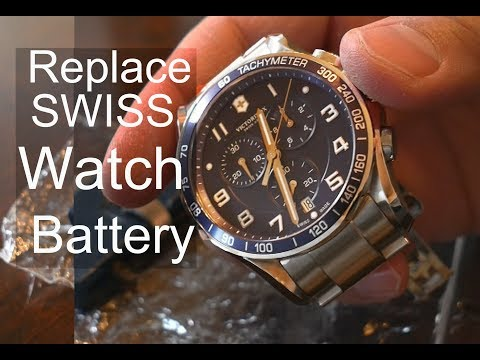 Swiss Victorinox Tachymeter Watch Battery Replacement
