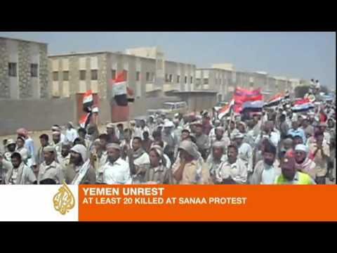 Many protesters shot dead in Yemen