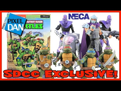 Teenage Mutant Ninja Turtles NECA Toys SDCC 2017 Exclusive Figure Set Video Review