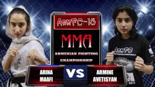 دو دختر نوجوان ایرانی با لباس کاراته در مسابقات ارمنستان و مسابقه را واگذار میکنند