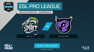 Spirit vs Windigo - ESL Pro League Relegations EU - map2 - de_overpass [Enkanis, ceh9]