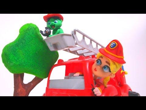 FROZEN ELSA FIREMAN  Spiderman, Hulk & Frozen Play Doh Cartoons For Kids